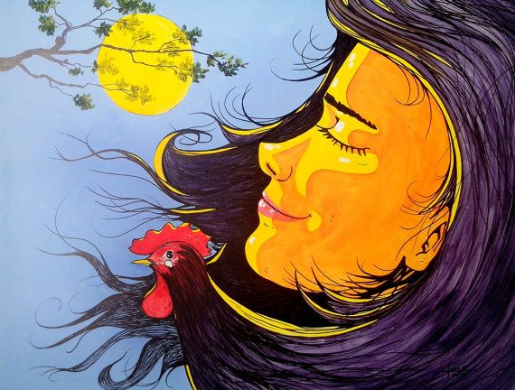 Amanecer tropical por DibujosPinturasFotos en Etsy, $200.00