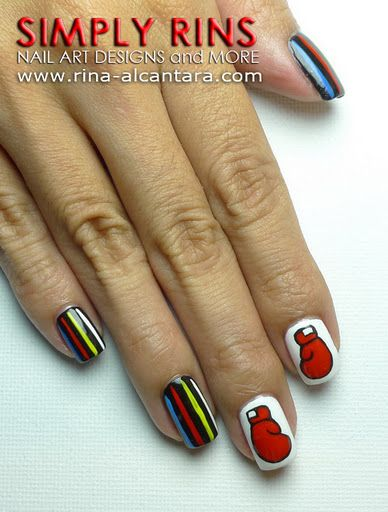 Nail Art Manny Pacquaio Again Sports Nails Nails Best Nail Art Designs
