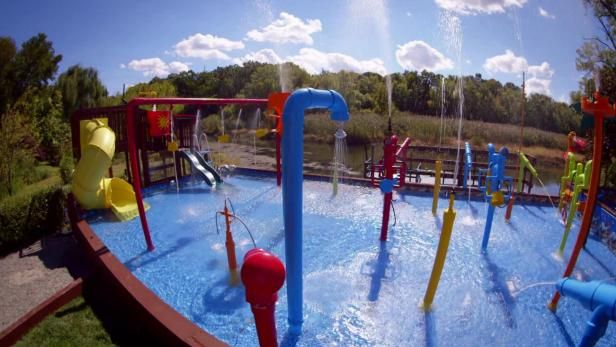 This Backyard Water Playground Was Built For Kids And Adults Alike.