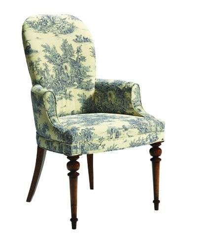 Enjoyable Toile Chair Chairs Upholstered Arm Chair Patterned Caraccident5 Cool Chair Designs And Ideas Caraccident5Info