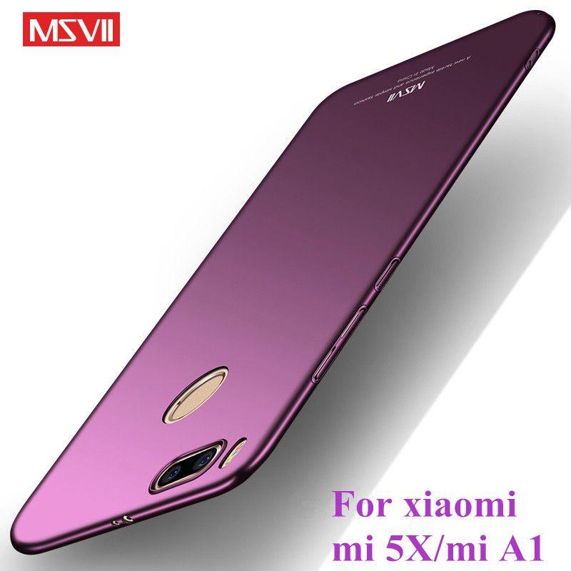 Xiaomi Mi A1 5x Case Msvii Brand Xiomi Mia1 Mi5x Case Luxury Slim Hard Pc Back Cover Coque For Xaomi Mi A 1 Phone Accessories Phone Accessories Xiaomi Phone