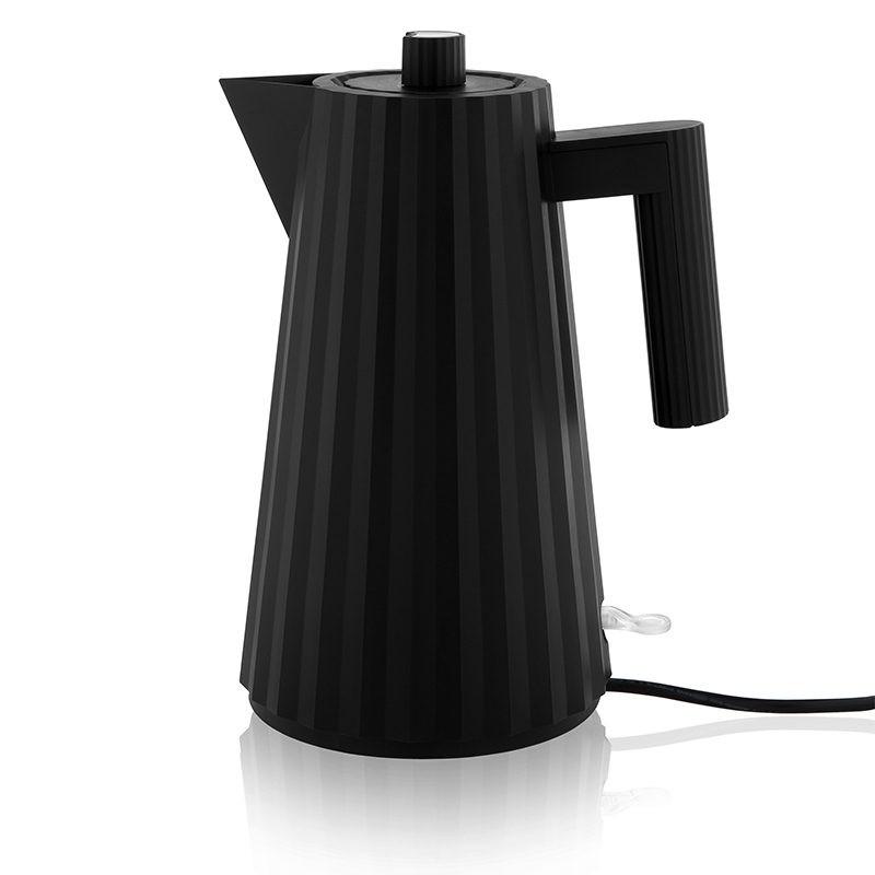 Alessi Electric Kettle Plisse Black