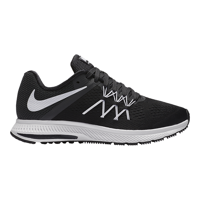 timeless design 22757 572c6 ... ireland nike womens zoom winflo running shoes black white 198c9 35361