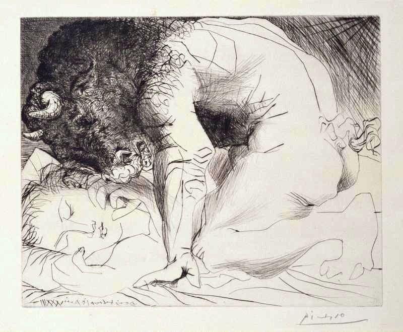Picasso ,satiros y ninfas