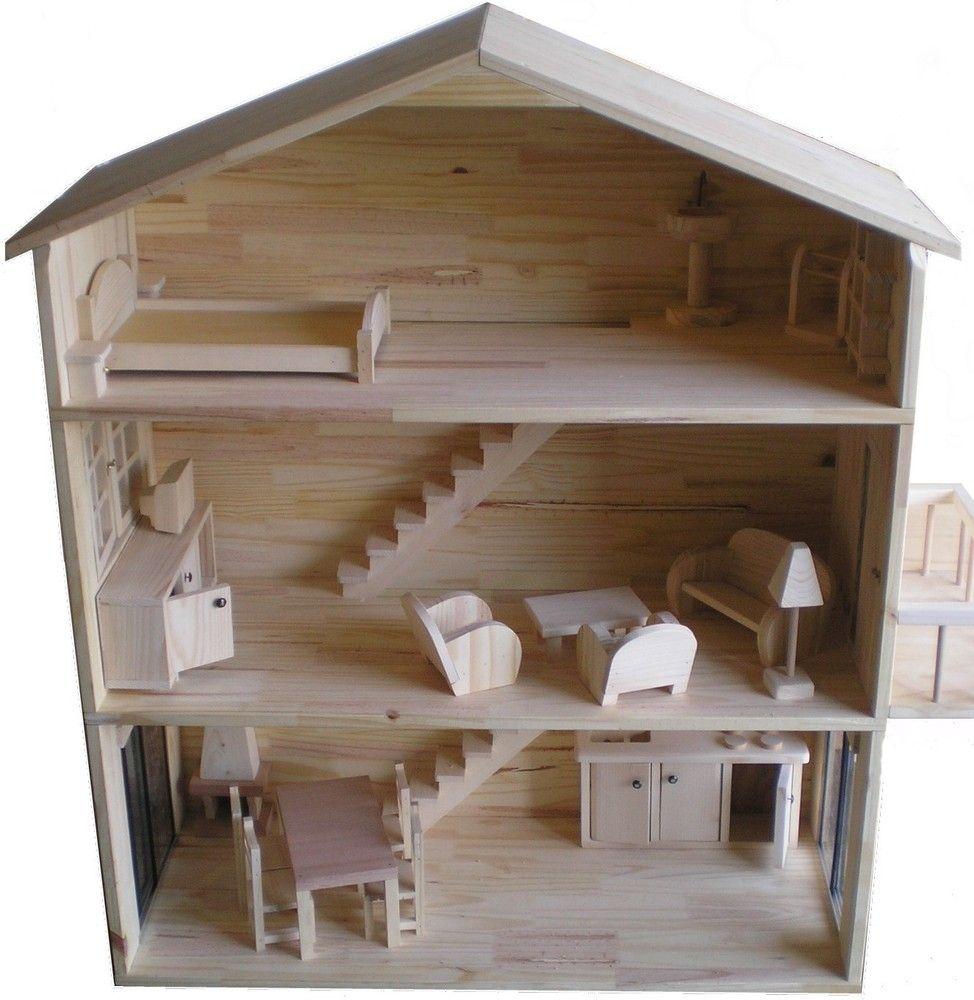 bc09a46b0f329f ❁❀Epinglé par CM ❃✿Construire une maison de poupée   Bricolage ...