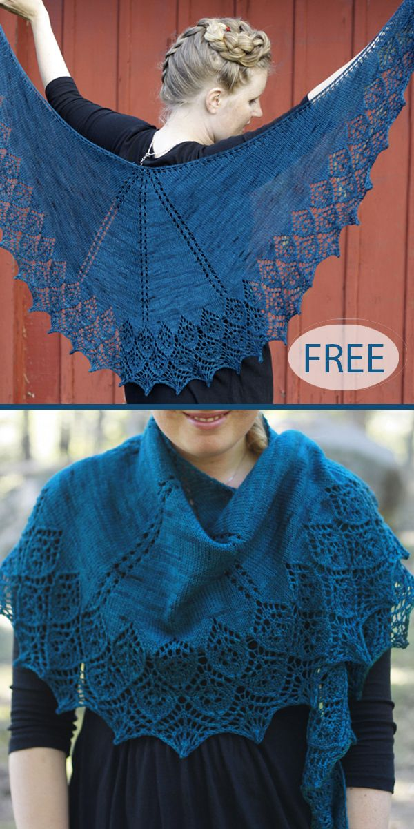 Free Knitting Pattern for Cameo Flower Shawl