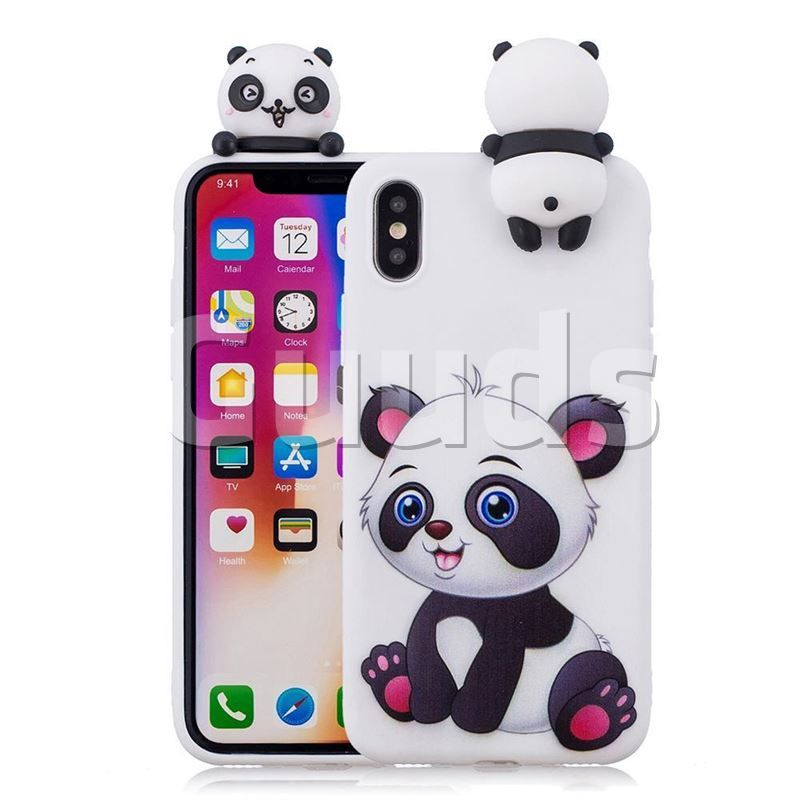 7% off Panda Girl Soft 3D Climbing Doll Soft Case for iPhone XS ...