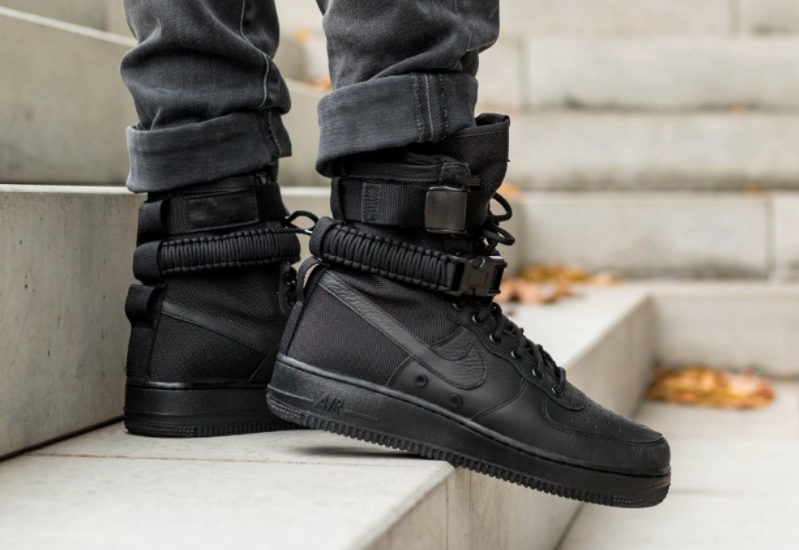 d1fc29359cb Get The Nike SF-AF1 High Triple Black On Black Friday