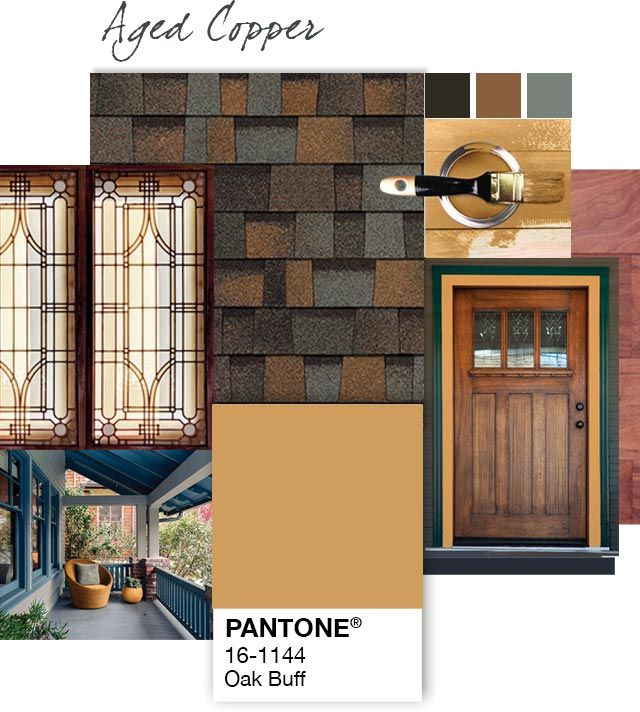 Best Exterior Home Design Oak Buff Aged Copper By Owens 400 x 300