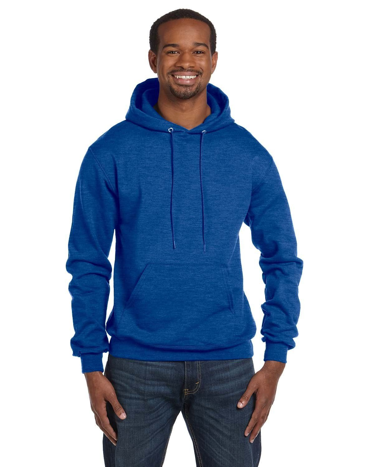 3372967e Champion 9 oz. Double Dry Eco® Pullover Hood S700 ROYAL BLUE HTHR