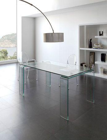 Achetez notre Table de salle à manger rectangulaire en verre design