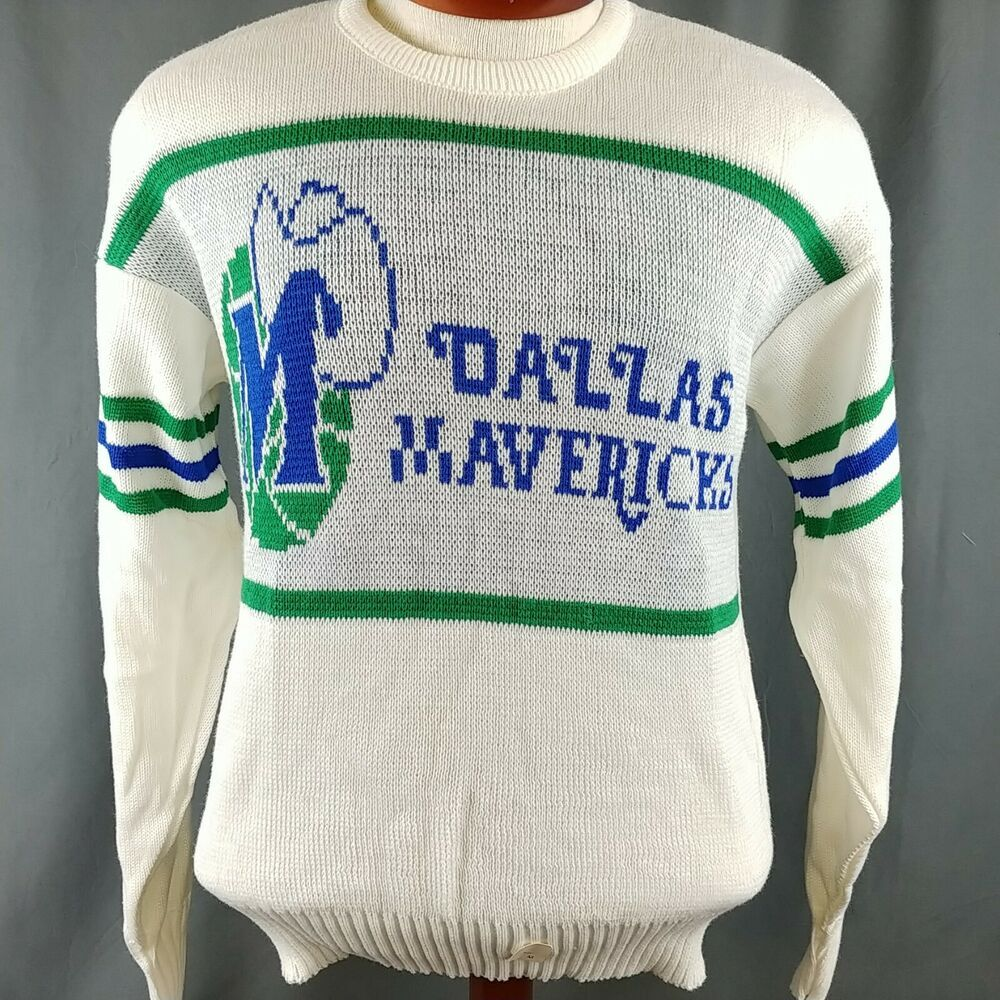 info for f413e b9f8a Details about Vtg Dallas Mavericks Sweater Cliff Engle 80s ...