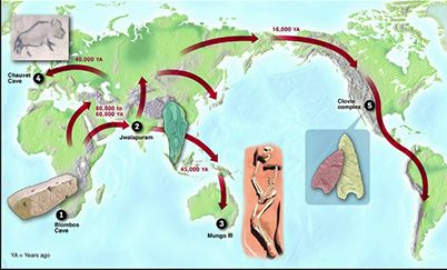 Out Of Africa Theory Map.This Means That According To The Out Of Africa Theory