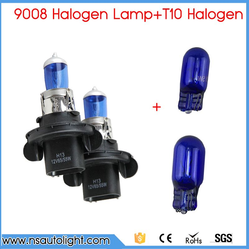9008 H13 60 55W 6500K Blue Light Car Bulbs 2 PCS 501 194 W5W