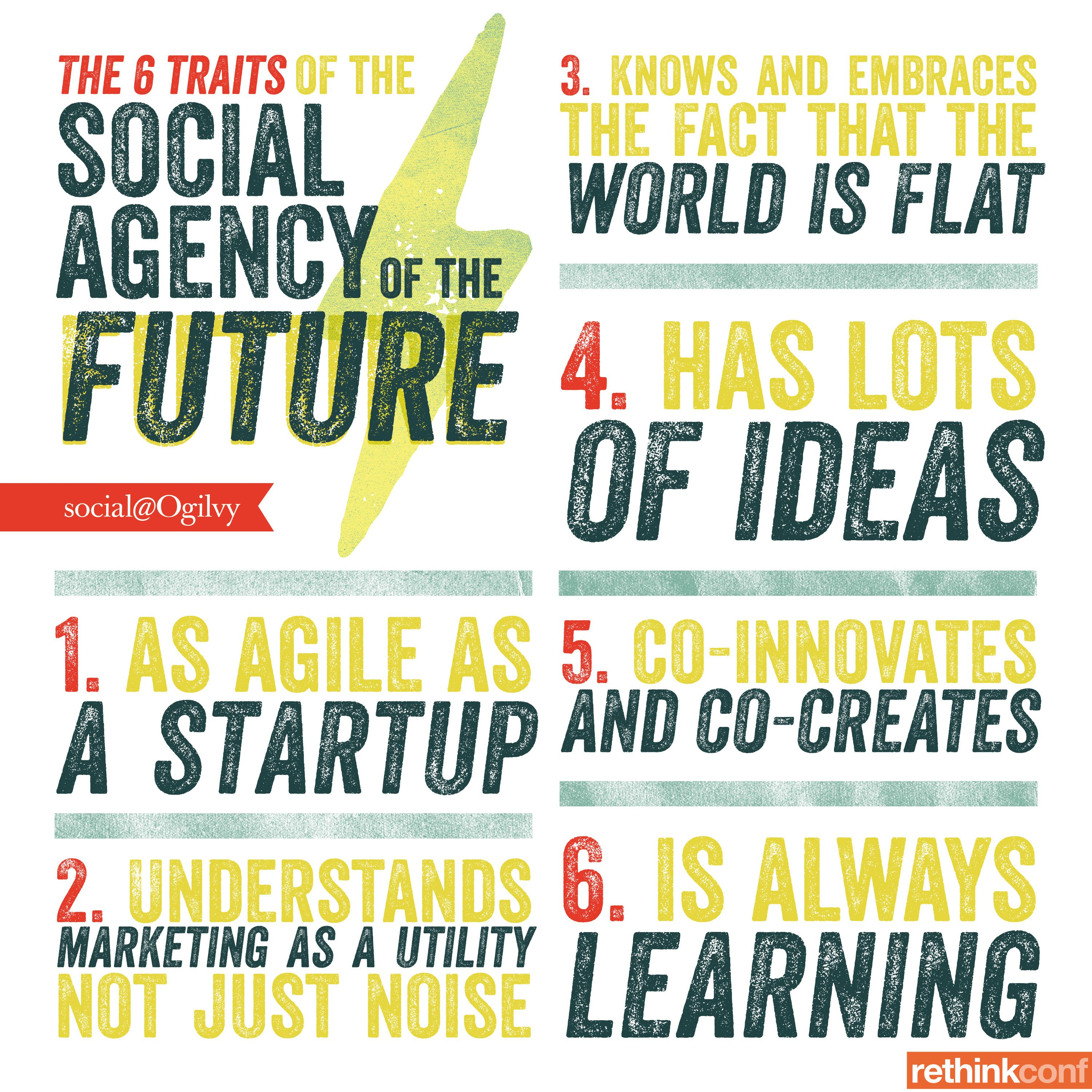 The 6 Traits of the Social Agency of the Future #Infographic via @Social@Ogilvy's Gemma Craven.