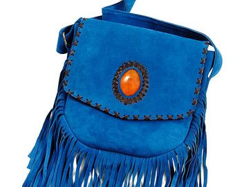 Ibiza Fringe Boho Cross Body Bag, Suede Fringe hippie bag, suede fringe tassel bag