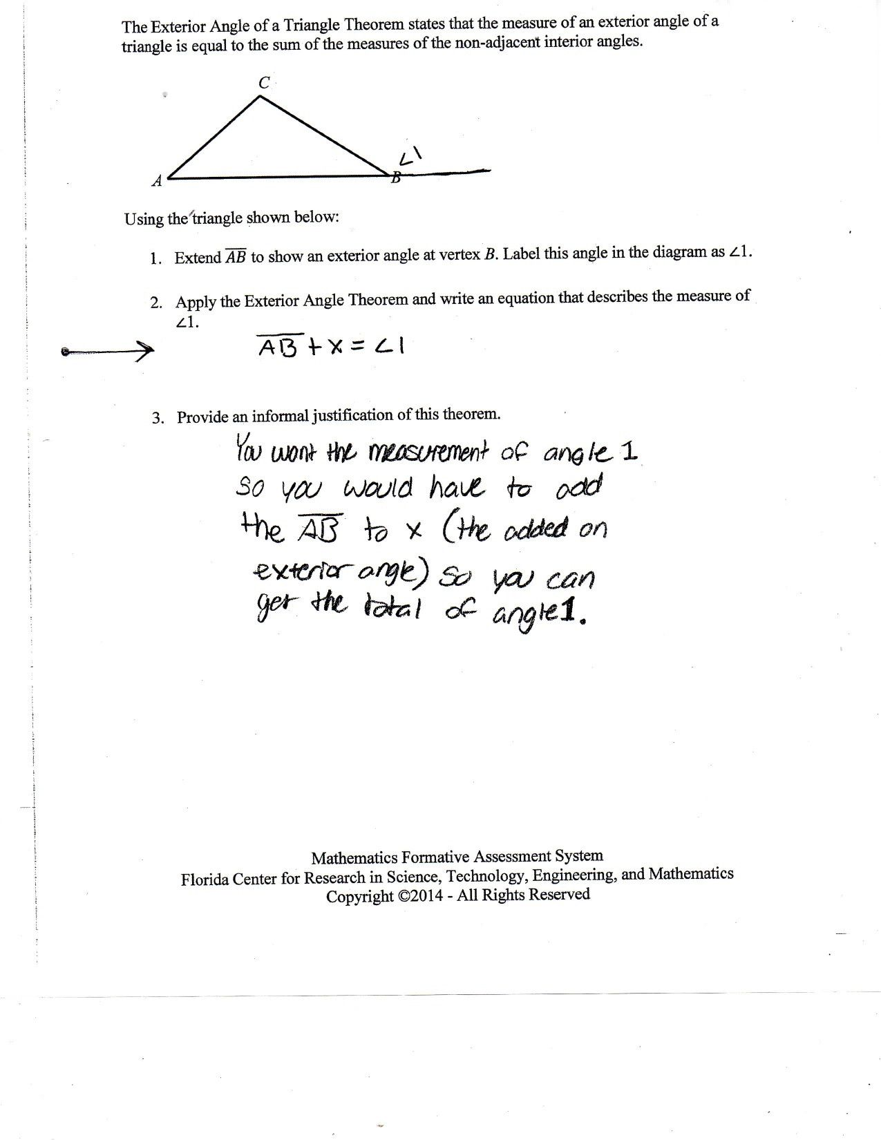 Prime Triangle Angle Sum Worksheet Answers