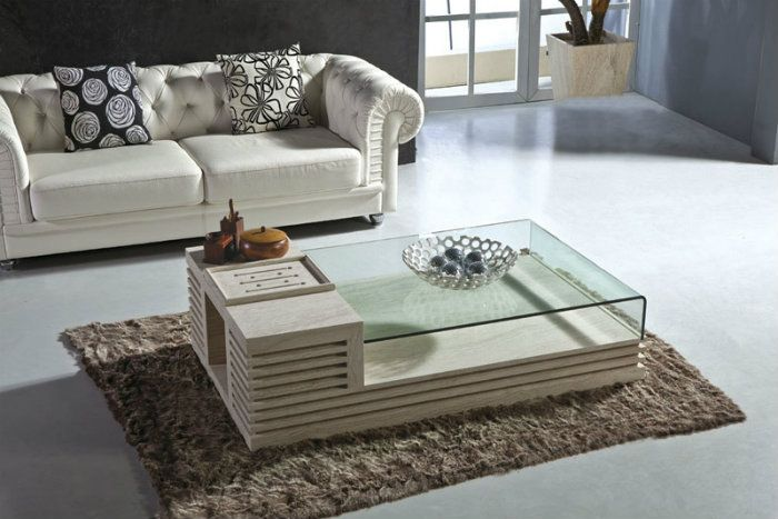 Modern Design Center Tables Sala De Estar De Lujo Habitaciones