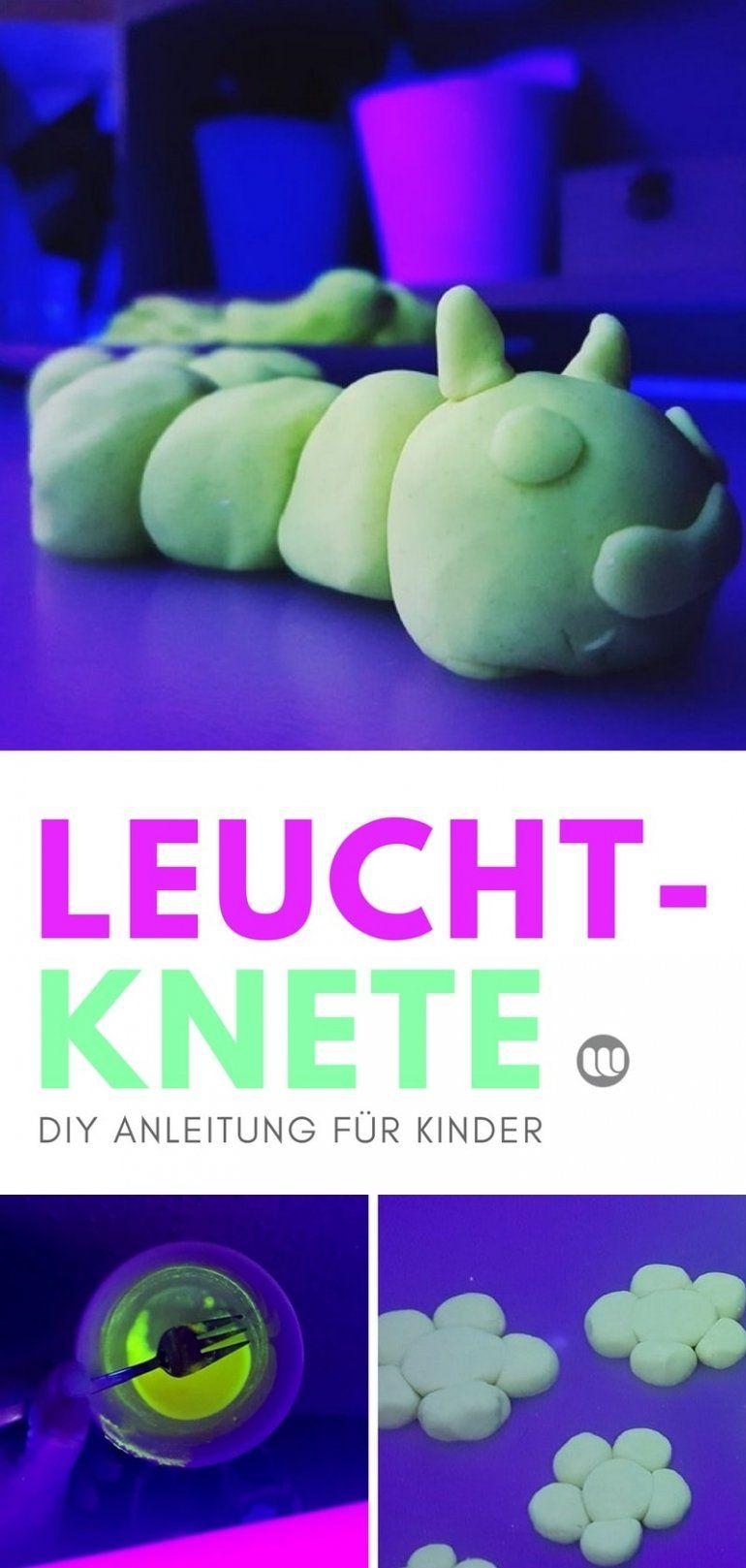 Leuchtende Knete Selber Machen Kinder Leuchtknete Diy Anleitung