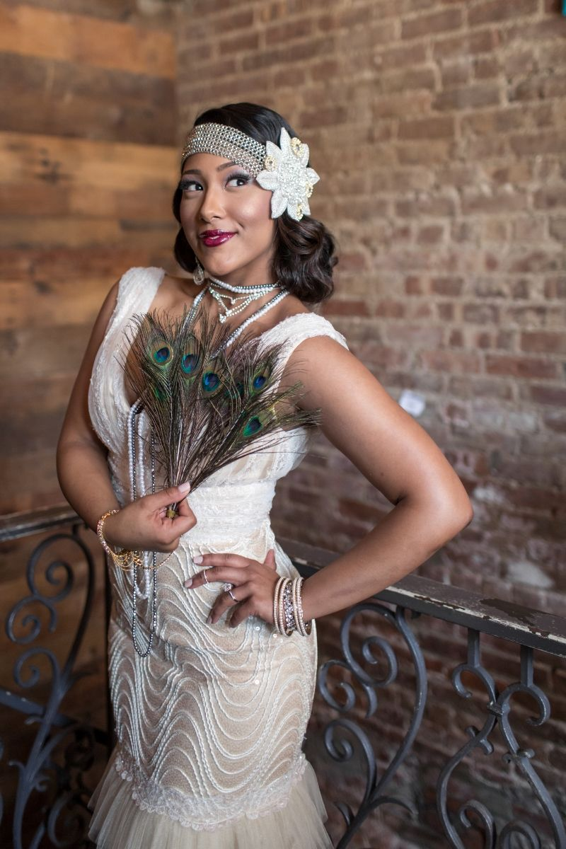 Harlem renaissance inspired wedding dresses