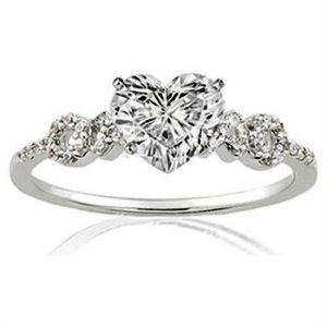 heart shaped rings are my favorite - Heart Shaped Diamond Wedding Ring