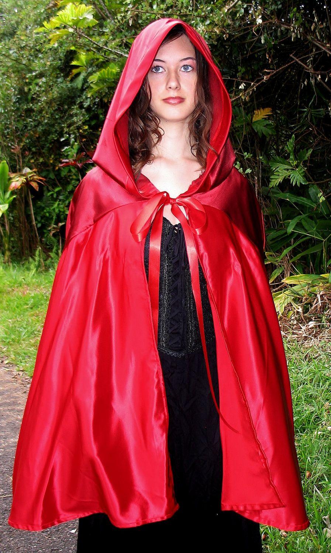Red Riding Hood Cape- All Satin. $59.99, via Etsy.