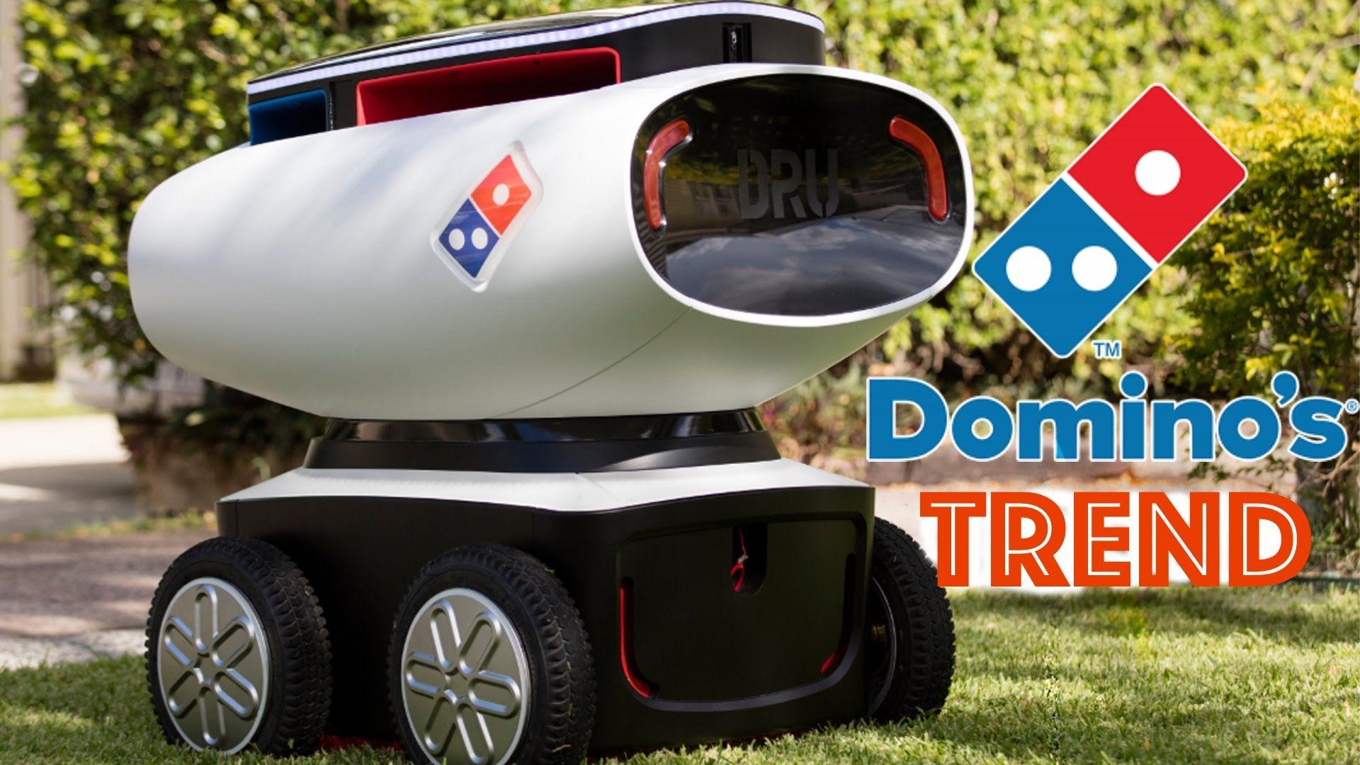 Доставка пиццы будущего Domino's Pizza - Domino's Robotic Unit DRU