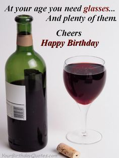 Images Of Birthday Cheers With Wine Glasses