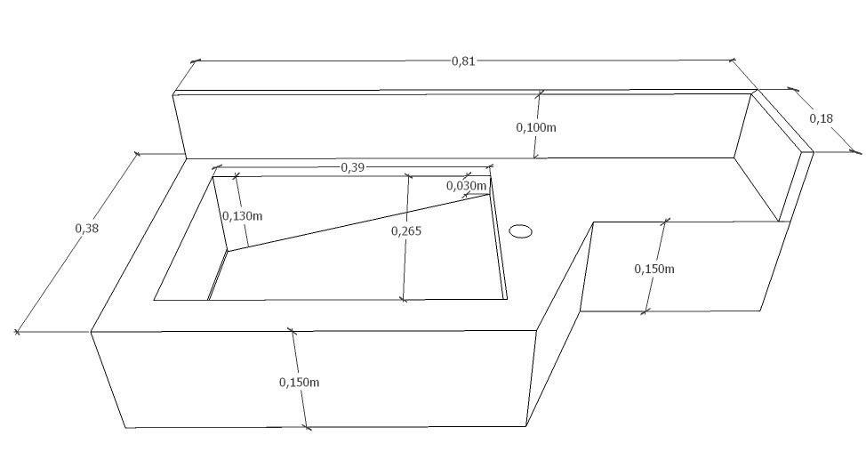 como fazer cuba esculpida  Pesquisa Google  detalhes tecnicos  Pinterest  -> Cuba Banheiro Autocad