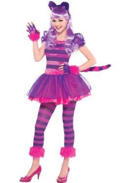 2e644b934 Disfraz de gato Chesire para niñas adolescentes en varias tallas. Se ...