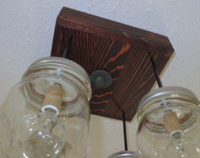 12 Pendant Mason Jar Chandelier, Kitchen Lighting, Mason Jar Light Fixture, Chandelier, Mason Jar Light, Pendant Light, Dining Room Lighting #jarchandelier