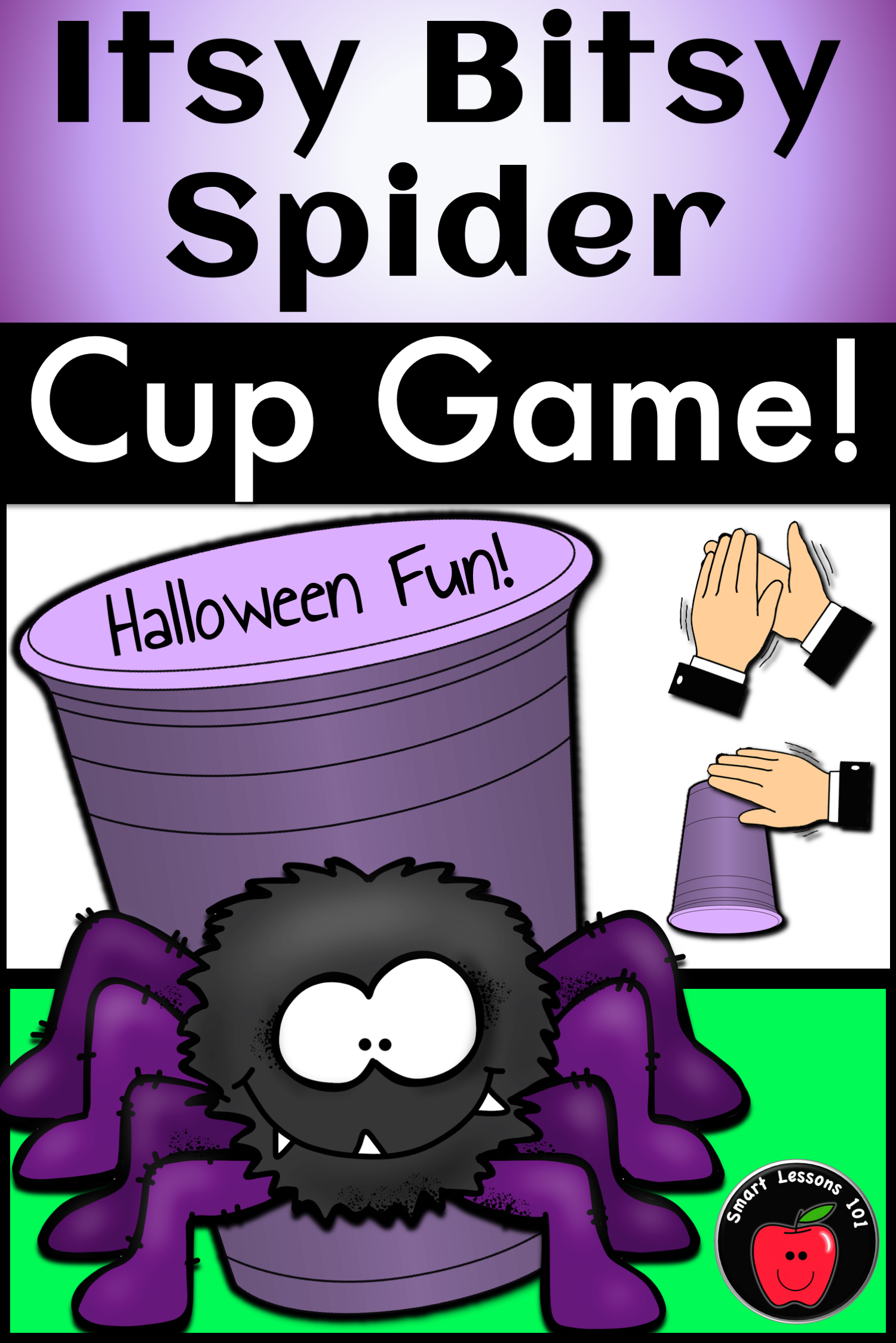 Itsy Bitsy Spider Cup Game Halloween Music Game