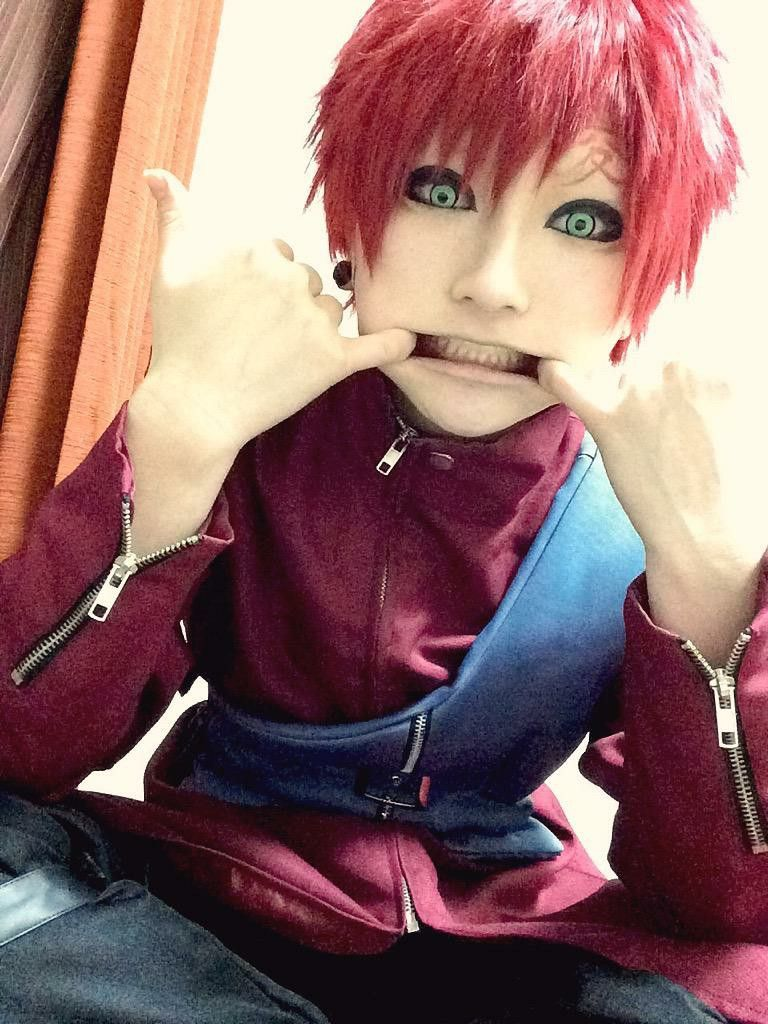 This is the cutest Gaara cosplay I have ever seen!