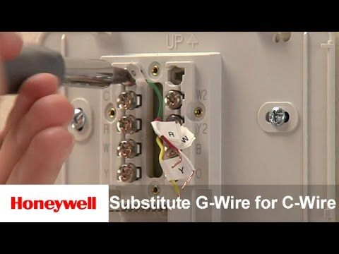 Honeywell Diy Wi Fi Thermostat Substitute G Wire For C Wire Us And Canada Training Honeywell Honeywell Thermostat Wifi