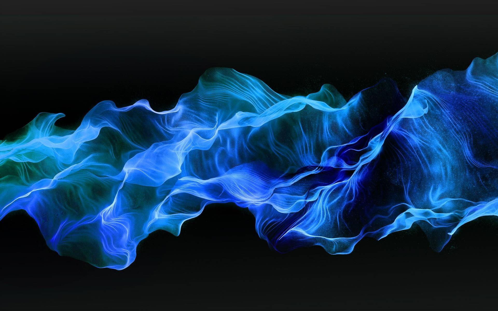 Blue fire wallpaper HD download free.