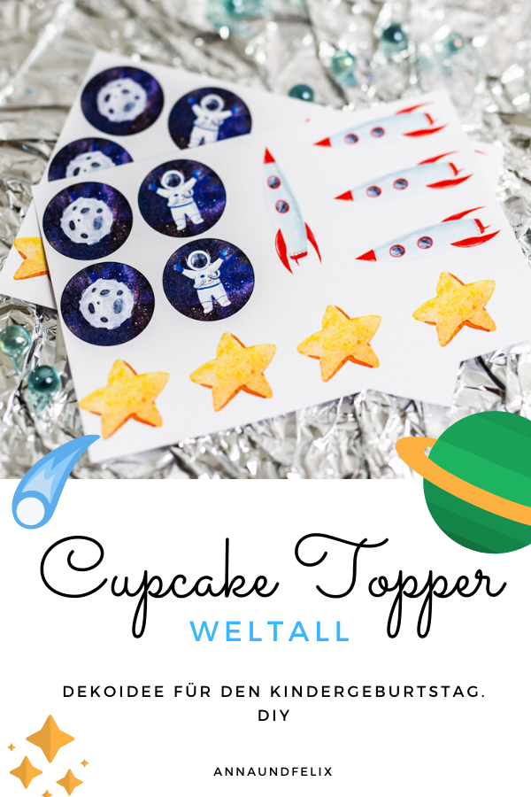 Starting at 9.90 Euro motifs for a children's birthday on the theme astronaut for cupcakes, cupcake