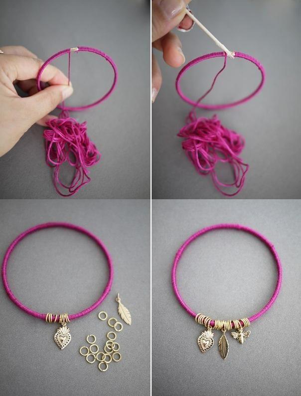 Easy DIY Summer Bracelet #recycledcrafts