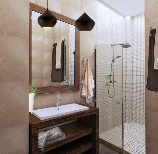 Aménagement salle de bains sans fenêtres- 30 idées supers Coins - Meuble De Salle De Bain Sans Vasque