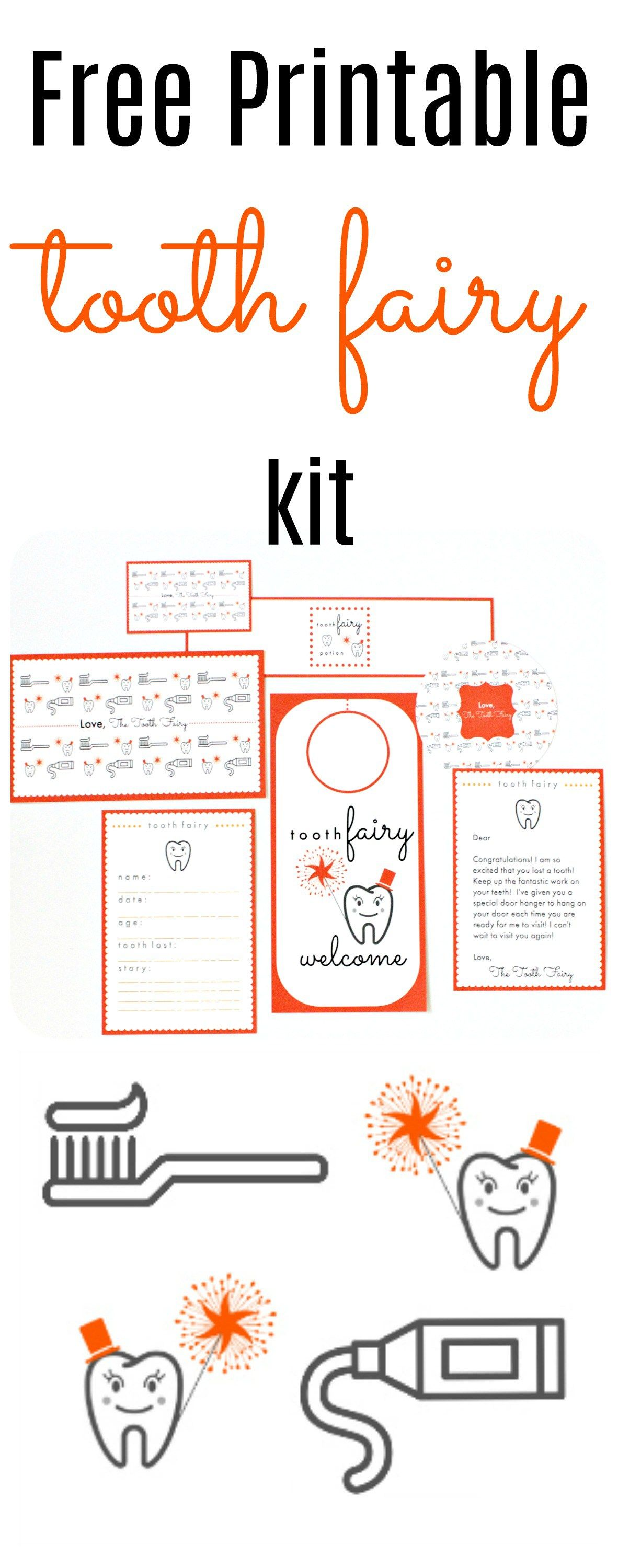 Free Printable Tooth Fairy Kit