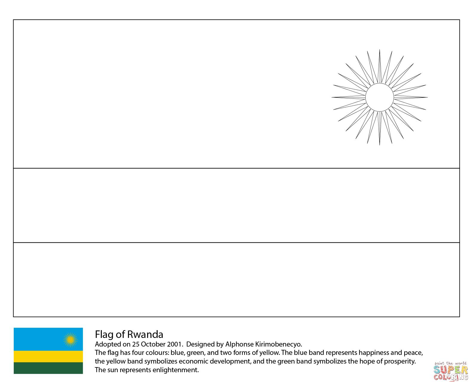 Flag Of Rwanda Coloring Page Free Printable Coloring Pages In 2020 Free Printable Coloring Coloring Pages Flag Coloring Pages