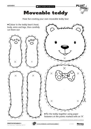 Teddy bear picnic click to download free teddy bears for Make your own teddy bear template