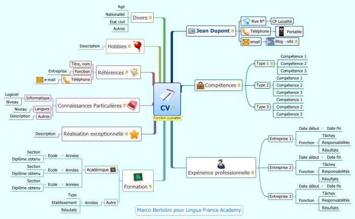 Modele Cv Employe Experimente Mindmap