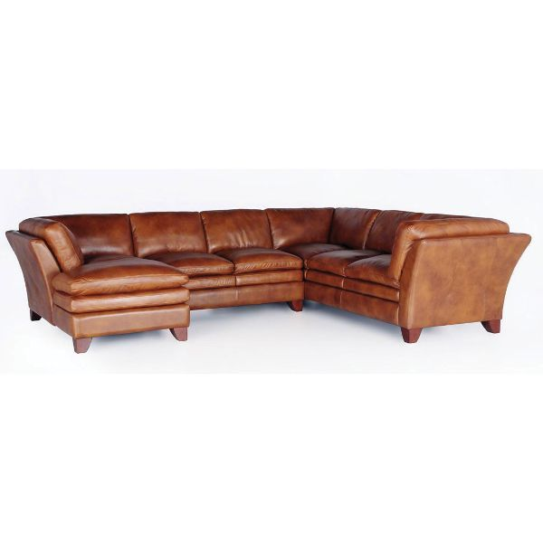 Sierra Camel Leather 3 Piece Sectional House Ideas