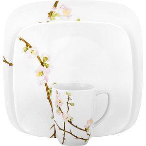 Corelle Squares Cherry Blossom 16-Piece Dinnerware Set - Walmart.com  sc 1 st  Pinterest & Corelle Squares Cherry Blossom 16-Piece Dinnerware Set I think this ...