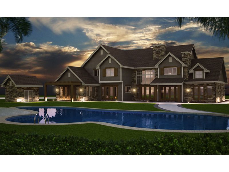Elk Trail Rustic Luxury Home Traditional House Plans Luxury Homes House Plans