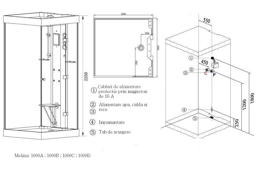 Pin de alma gmo en medidas de objetos ba os medidas de for Cabinas de ducha medidas