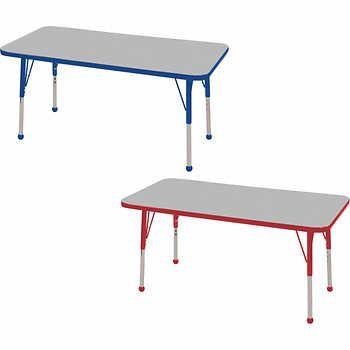 Ecr4kids Rectangular Adjustable Activity Table Activity Table Ecr4kids Table