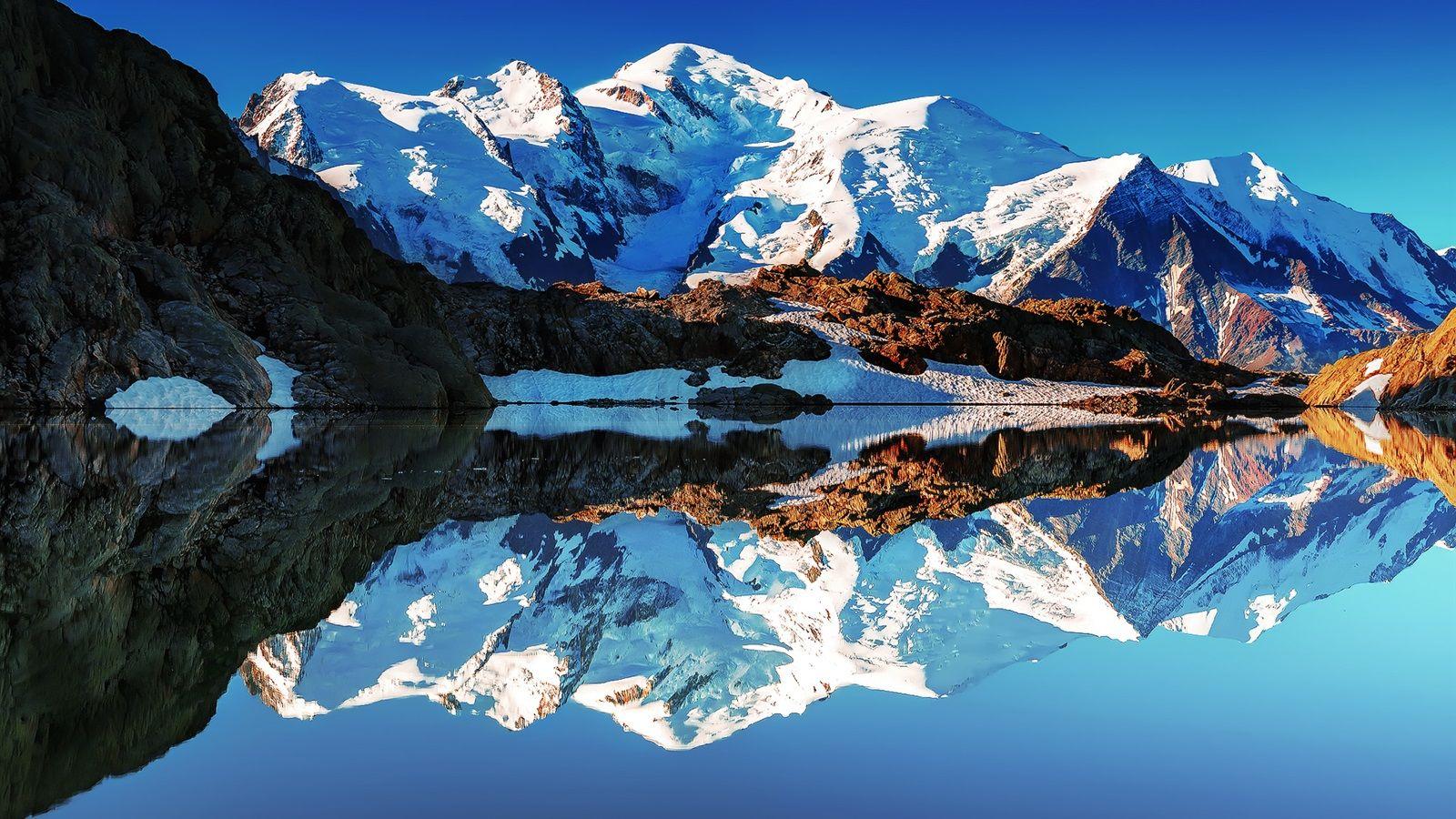 Frankreich Alpen Mont Blanc Wei 223 E Berge See