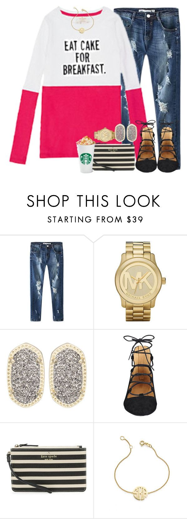 """""""current//mood"""" by sydneylawsonn ❤ liked on Polyvore featuring ComeForBreakfast, Michael Kors, Kendra Scott, Nine West, Kate Spade, Sarah Chloe, women's clothing, women's fashion, women and female"""