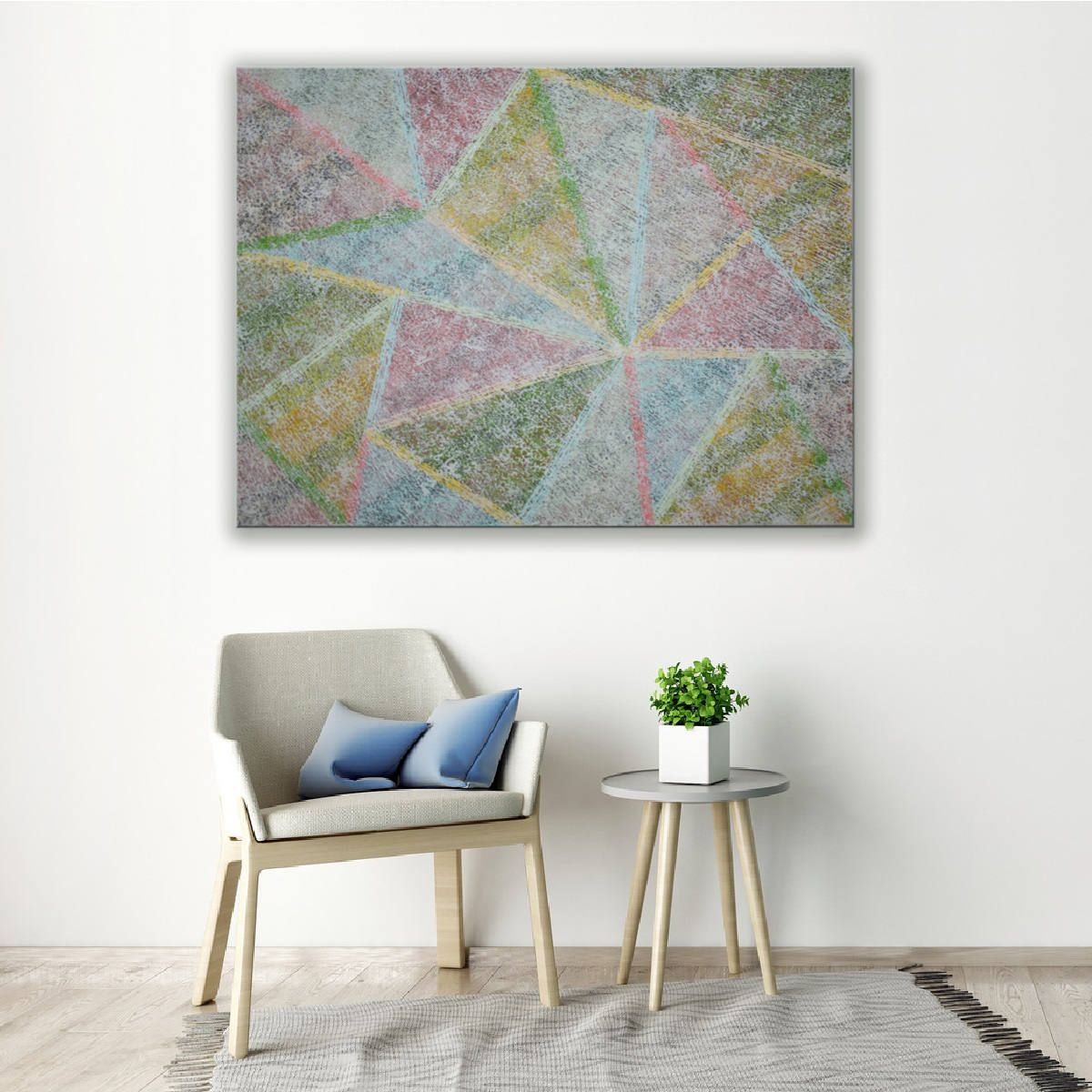 Original Textured BLUE Abstract Painting Contemporary Modern fine ...